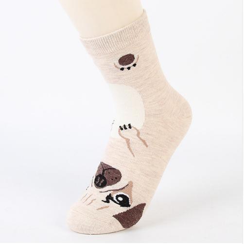 doge socks in beige